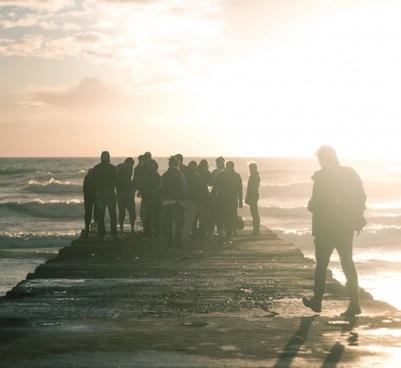 bloom deck group ocean people person pier sea