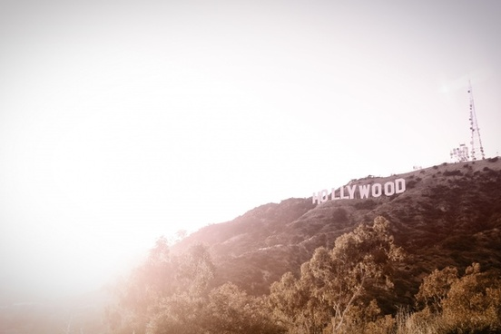 bloom hill holiday hollywood la moutain sign sun