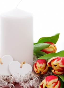 blooming candle decoration