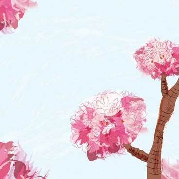 Blooming Spring Vector Graphic
