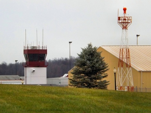 bloomingtons air port control tower