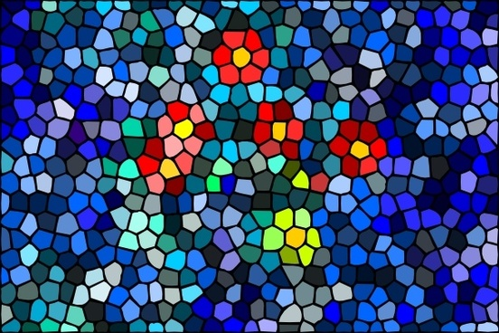 Blossoms Surfacing Water Mosaic clip art