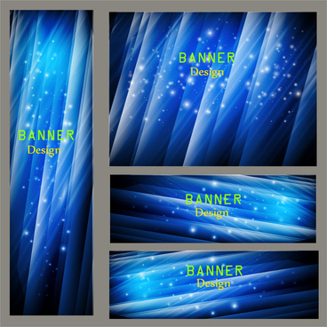 blue abstract vector banner design
