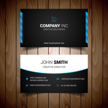 Black And Red Business Card Free Vector Download 34025 Free Vector