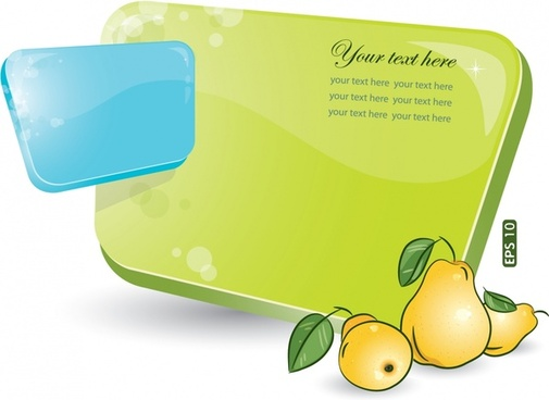 decorative background template handdrawn pear sketch colorful modern
