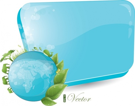 ecological environment background template shiny modern globe elements
