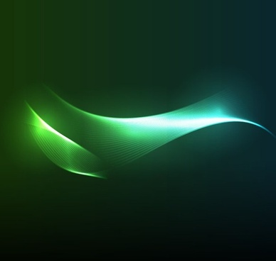 blue and green tones wave line on dark light background vector graphic