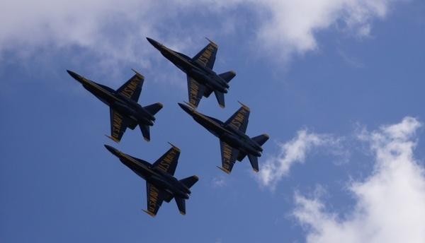 blue angels navy sky