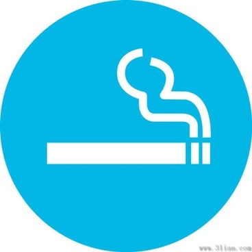 blue background cigarette icons vector