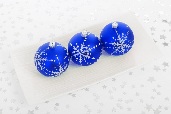 blue bauble decorations