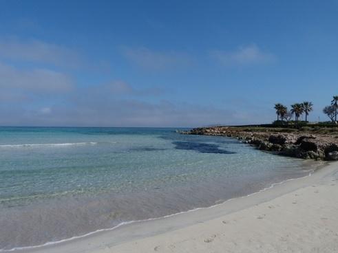 blue beach sea