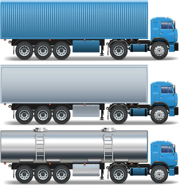 blue big truck vector