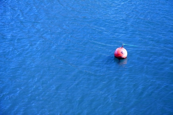 blue buoy float