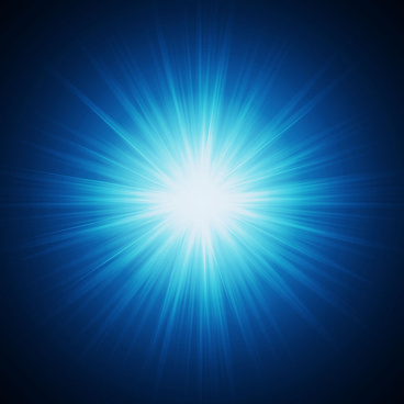 blue burst light background