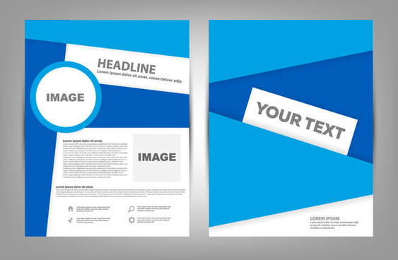 blue business brochure cover