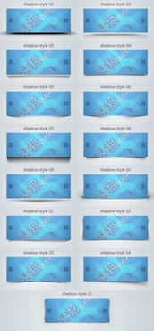 blue card bannerpsd layered