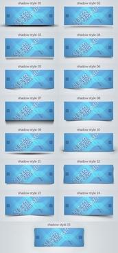 blue card bannerpsd layered