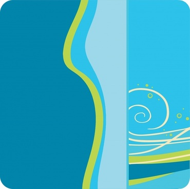 abstract backgroundgreen blue curves ornament