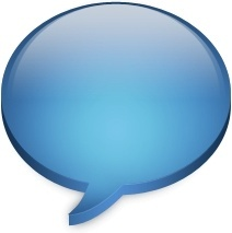 Blue chat bubble