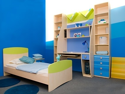 blue children39s room picture
