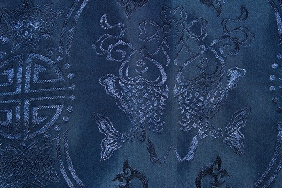 blue chinese traditional fabric