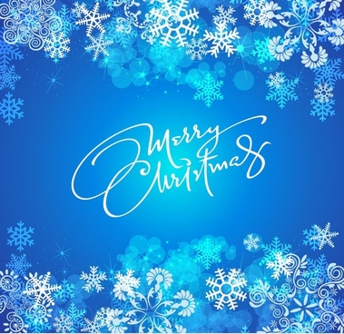 blue christmas background vector graphic