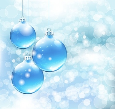 blue christmas card background vector graphic