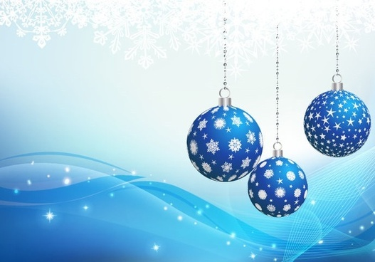 blue christmas ornament backgound vector graphic