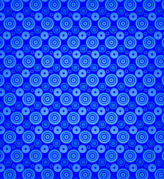 blue circles vector seamless pattern