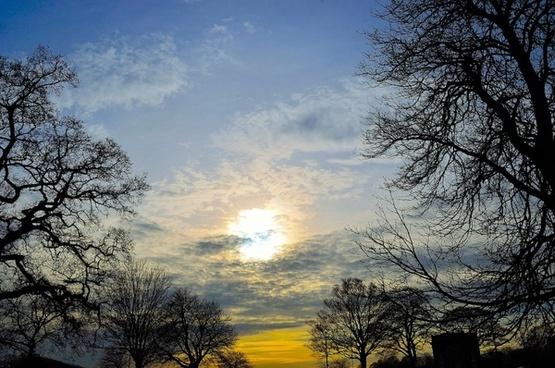 blue clouds nature