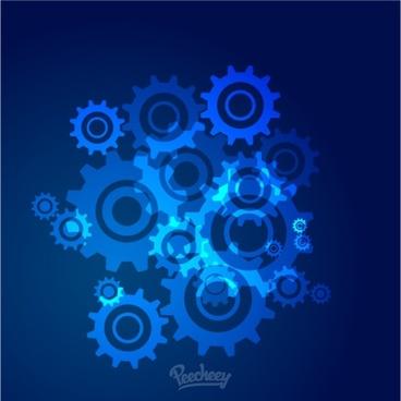 blue cogwheels background