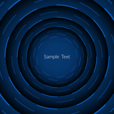 blue color abstract circular background