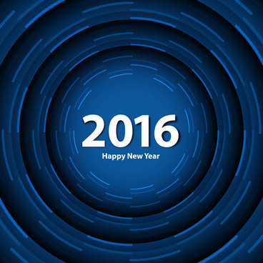blue color happy new year 2016 background