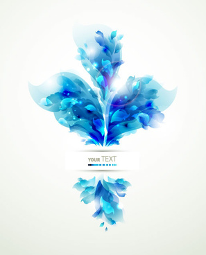 blue color lily flower background vector