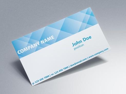 blue corporate business card design