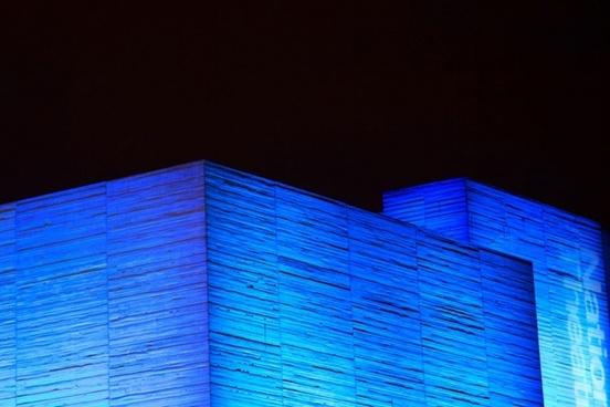 blue cube building