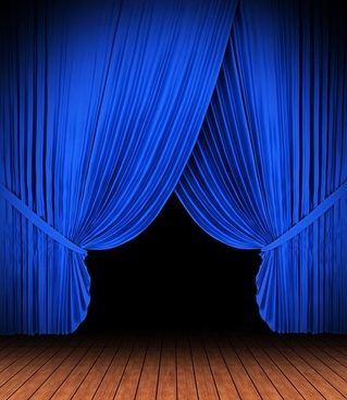 blue curtain light highdefinition picture