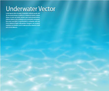 blue deep sea vector background art