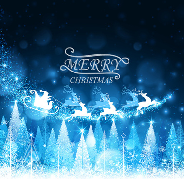 blue dream christmas vector background