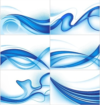 abstract background templates dynamic blue curves decor