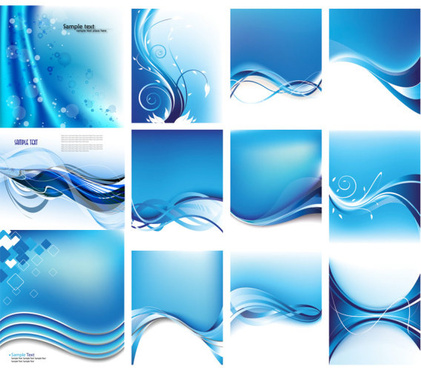 blue dynamic lines background vector art