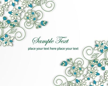 Blue Floral Background Vector Illustration