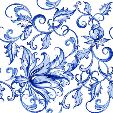 blue floral ornaments vector backgrounds
