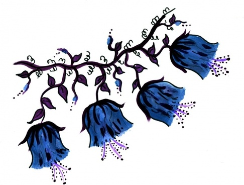 blue flowers vine