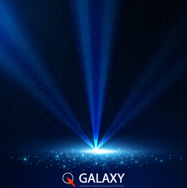 blue galaxy elements background vector