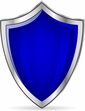 Blue glossy shield