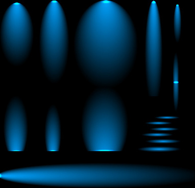 blue glow different effect vector