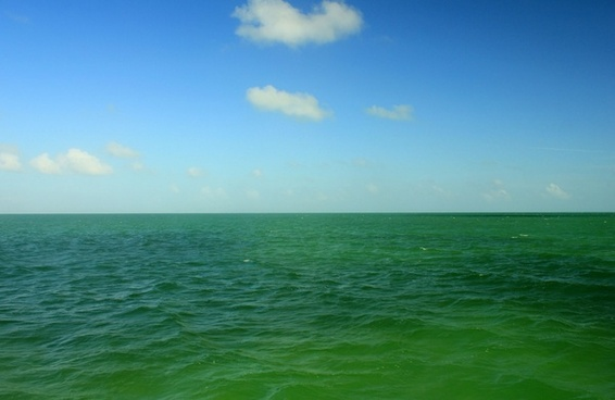 blue green water at biscayne national park florida