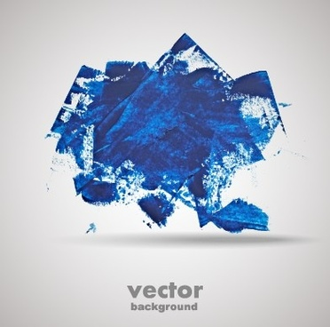 blue grunge background design vector