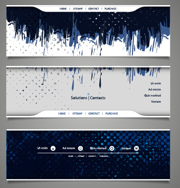 blue grunge vector banners
